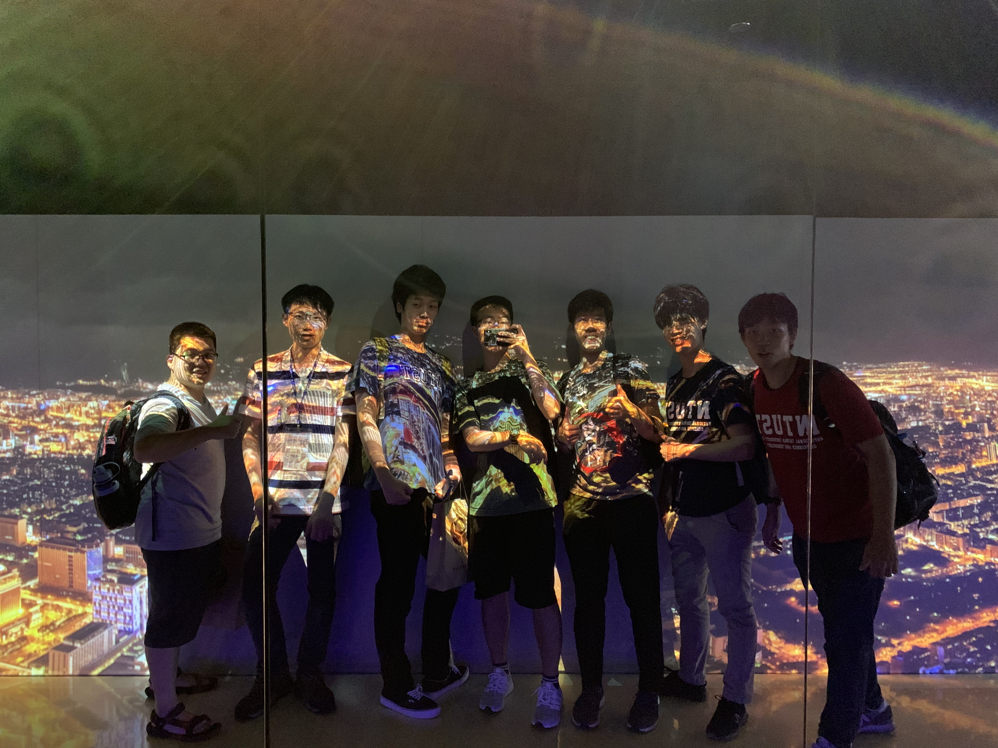 (Taipei 101 observation deck along with Tokyo tech and Taiwan Tech friends)