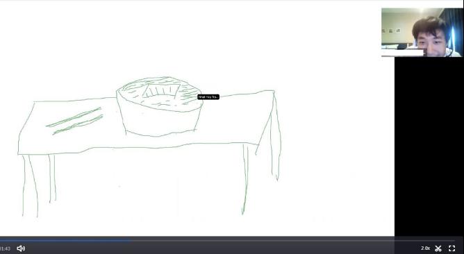 Kai drawing udon