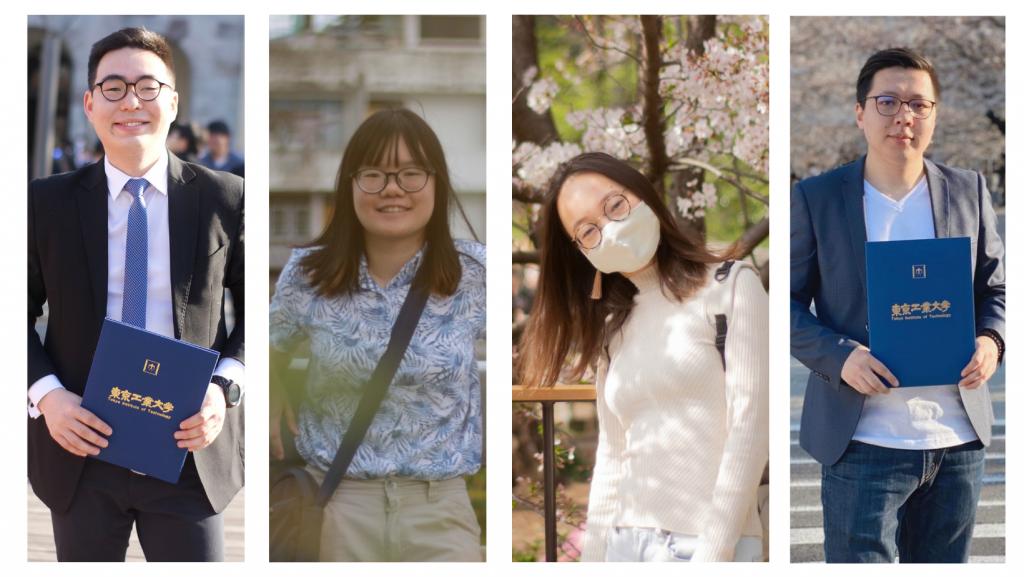 <strong>GSEP Alumni from the 1st batch of GSEP graduates:</strong> <i>(From L to R) </i> Dolgormaa Banzragch, Maythawee Ratchatawijin, Tumurbaatar Uyanga, and Purevsuren Norovsambuu.